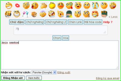Biểu tượng Mặt cười Comments Cho Blog
