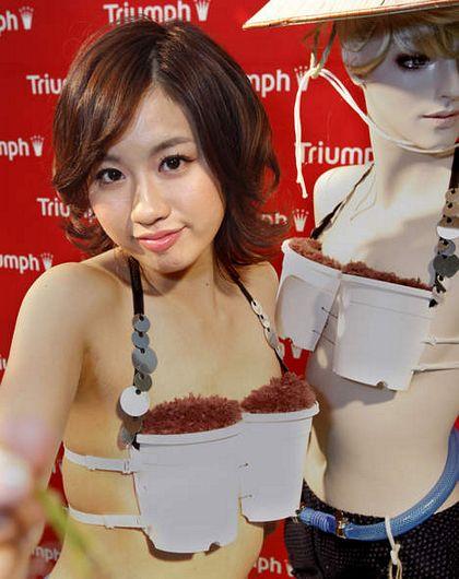 Nhật Bản phát minh áo ngực trồng lúa