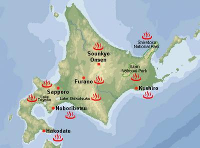 Onsen ở Hokkaido.