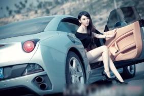 Siêu mẫu Nhật tuổi đôi mươi bên xe sang