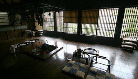 Phòng sinh hoạt của một ngôi nhà gassho-zukuri