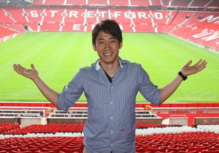 Những hình ảnh đầu tiên của Kagawa tại Old Trafford