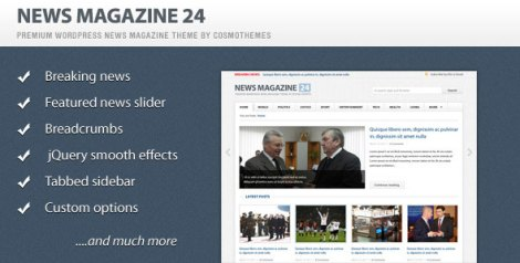 News Magazine 24 – Premium Theme by ThemeForest