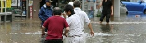 Hình ảnh lũ quét và lở đất nghiêm trọng tại Nhật