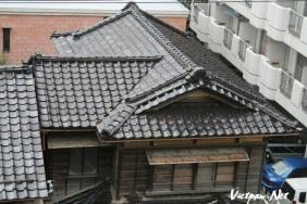 Cảnh đẹp Ngói mái nhà Nhật bản