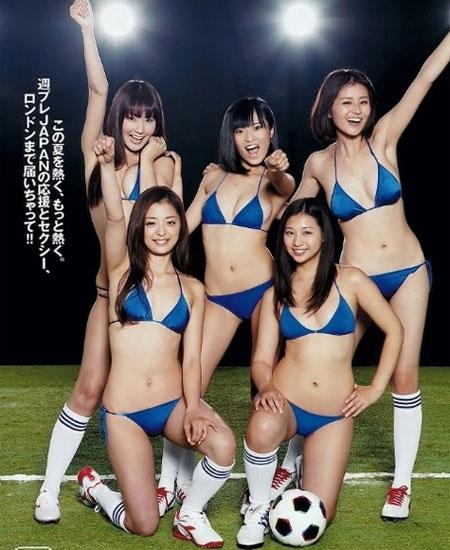 Người đẹp Nhật khoe đường cong cổ vũ Olympic