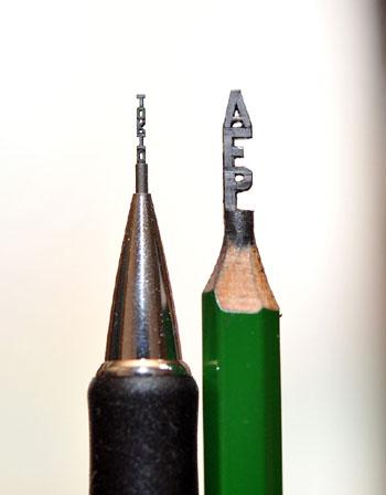 Những tác phẩm điêu khắc trên bút chì