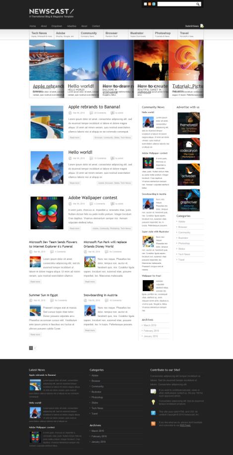 Newscast 4 in 1 – Magazine Theme by ThemeForest
