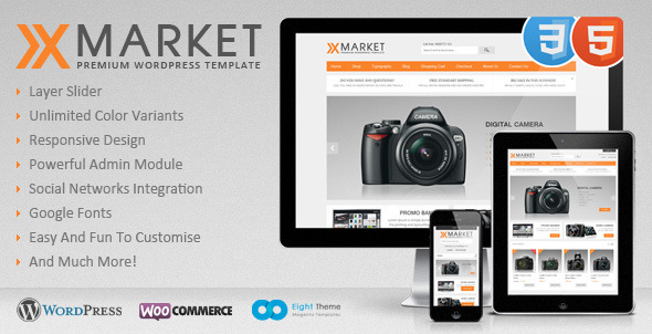 XMarket – Responsive WordPress E-Commerce Theme