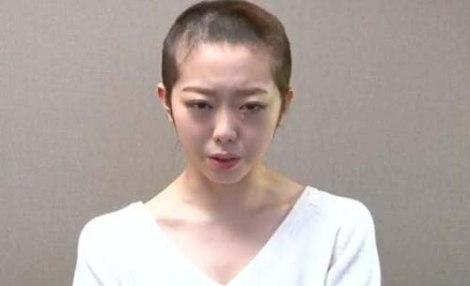 Sao nữ Nhật cạo trọc đầu vì lộ chuyện riêng tư