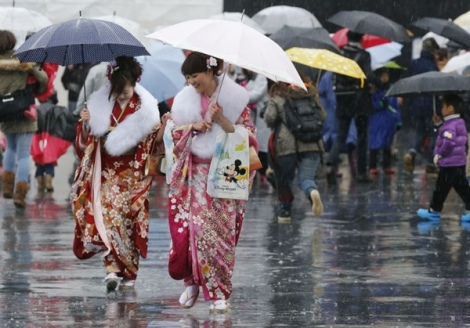 Thiếu nữ Nhật xúng xính kimono dự lễ Trưởng thành 2013