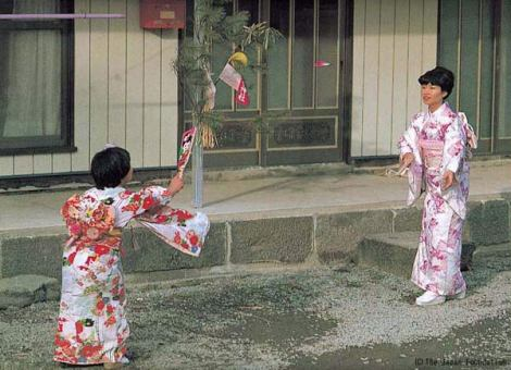 Độc đáo cầu lông Hanetsuki Nhật Bản
