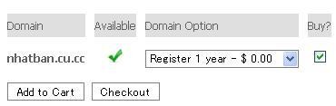 Hướng dẫn đăng ký tên miền miễn phí CU.CC