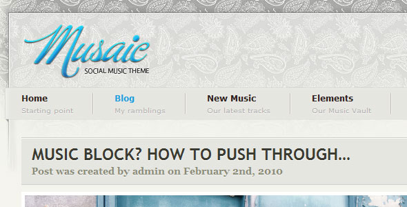 Musaic – Music Inspired Theme by ThemeForest