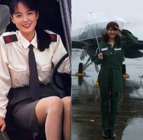 Ngắm vẻ đẹp của nữ quân nhân Nhật Bản