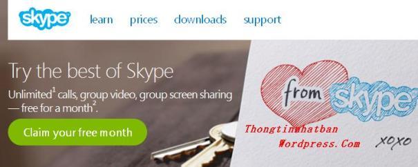 Gọi điện thoại miễn phí bằng Skype